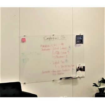 Clear & Frosted Glass Whiteboards