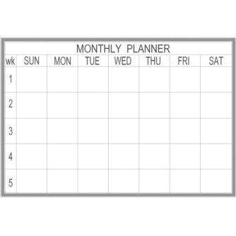 Month Planner - Multiple Sizes