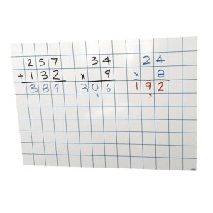 Grid whiteboard magnet