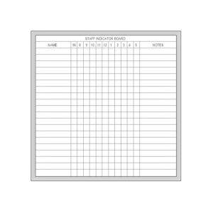 Staff Indicator Board - Multiple Sizes