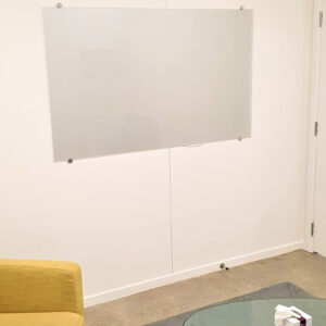 Prowite super clear non magnetic glass whiteboard clear or frosted
