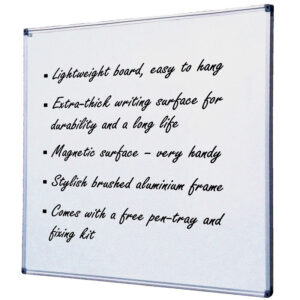 Witax magnetic whiteboard with aluminium frame