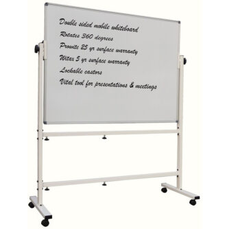 Double sided mobile acrylic magnetic mobile whiteboard
