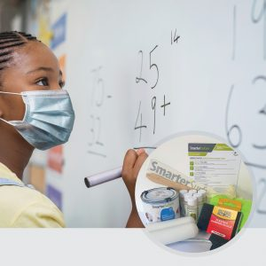 Smart-Antimicrobial-Whiteboard-Paint-board-in-use-with-full-kit