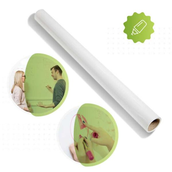 Roll of Smarter Surfaces Smart whiteboard wallpaper white