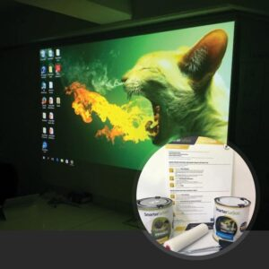 Smart Projector Paint Pro in use with kit on display