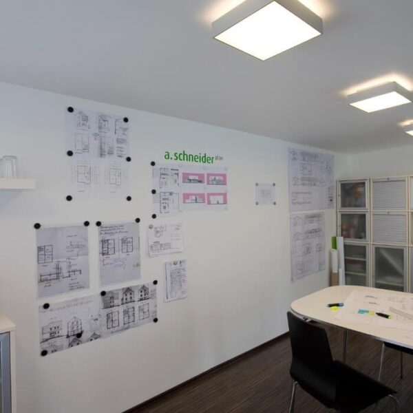 Full magnetic wall transformed with smart magnetic plaster