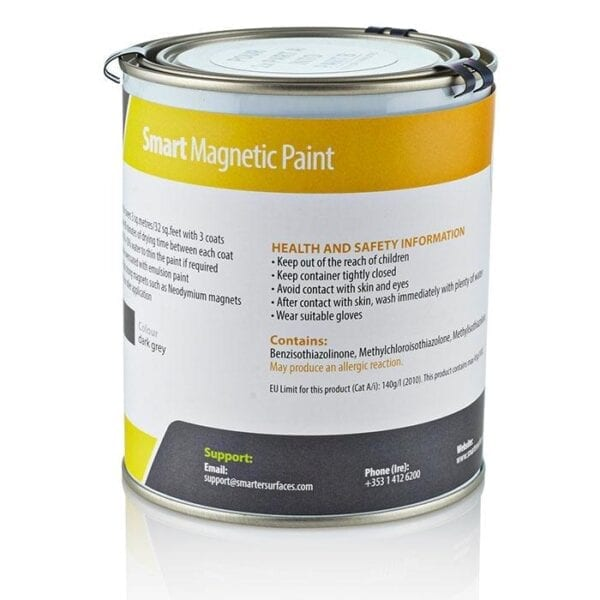 Smart magnetic paint tin wall covering