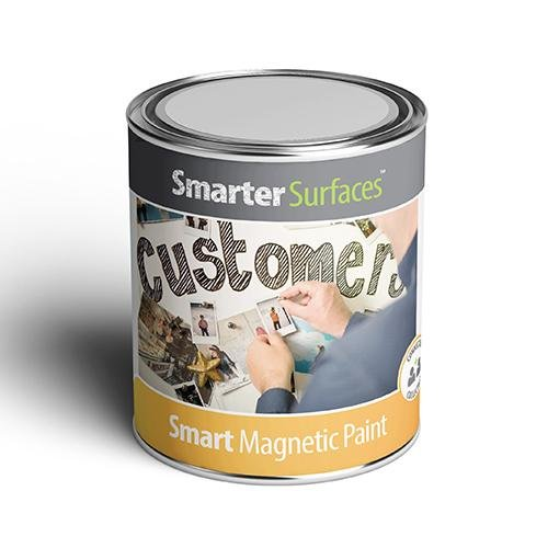 Smart magnetic paint wall covering