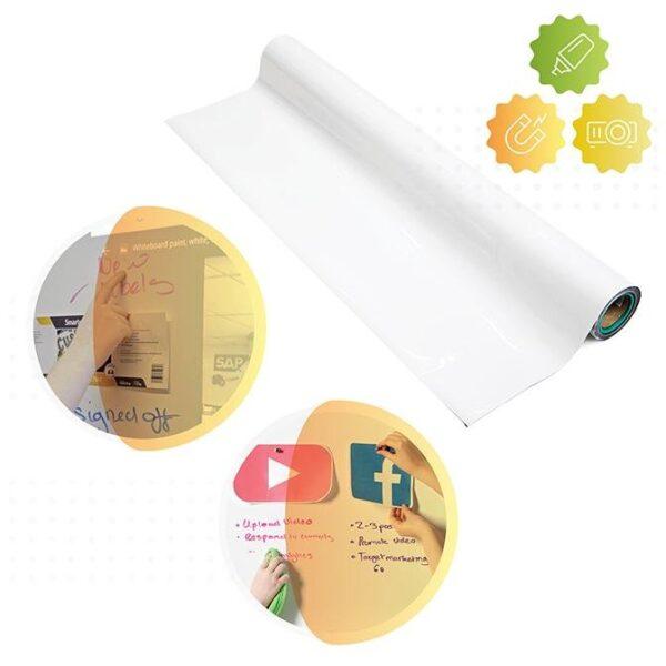 Smart magnetic whiteboard wallpaper
