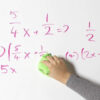 Smart magnetic whiteboard wallpaper low sheen used in classroom