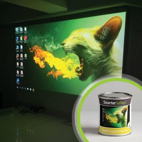 Smart projector paint pro tin and in use