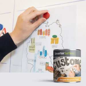 Smarter surfaces magnetic paint used for drawings