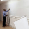 Smarter surfaces magnetic whiteboard wallpaper